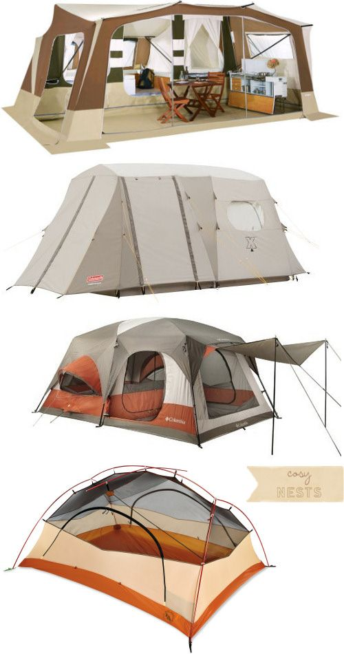 There are different tents for different uses. Family size tents usually start at from 4 or 6 man dome tents to larger Cabin tents or yurts which are a more permanent structures.