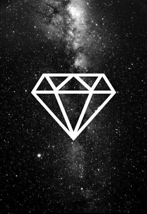 Image de diamond, wallpaper, and black
