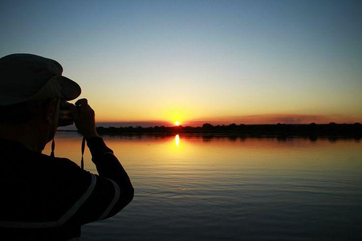 Sunset viewing on the Zambezi