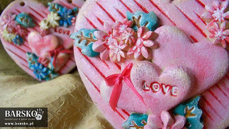 Walentynkowe Serca z masy solnej