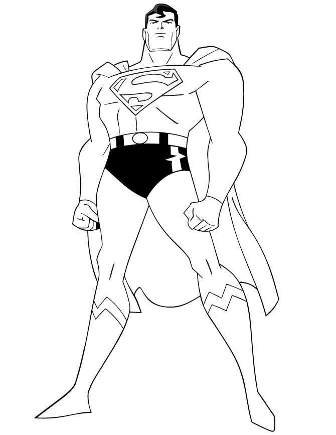superhero superman coloring book to print - Superhero Coloring Pages Boys
