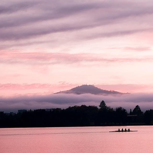 If there is anything more beautiful than a public holiday it might just be this stunning photo by Instagrammer @carolelvin of rowers hard at work in front of a foggy Canberra backdrop. #visitcanberra #onegoodthingafteranother