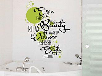 Lovely Wandtattoo Badezimmer Wortwolke