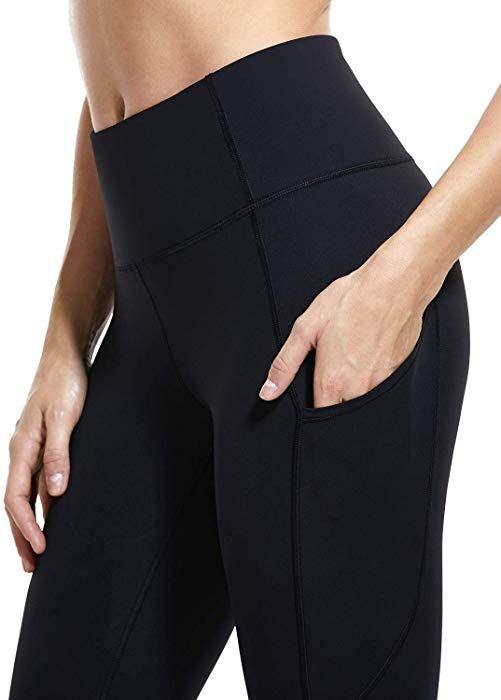 318e9314790ae Amazon.com: CRZ YOGA Women's Naked Feeling High Waist Tummy Control Stretchy  Sport Running Leggings with Out Pocket-25 inch Black XXS(00): Clothing