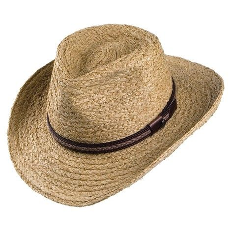 Jaxon & James El Paso Straw Outback Hat - Natural