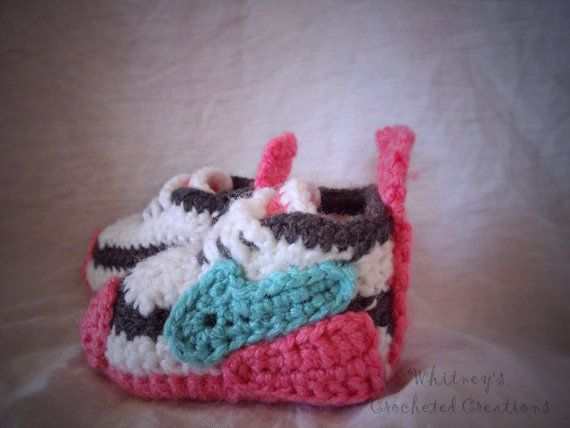Nike Inspired tennis shoes Crochet pattern pdf newborn to ...
