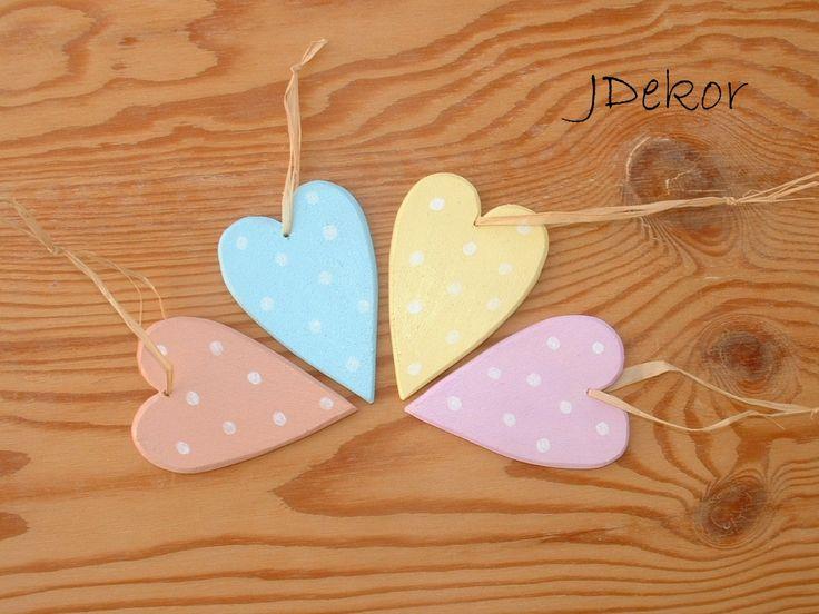 pasztell pöttyös szívek pastel hearts
