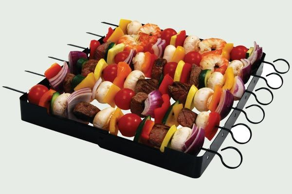 If he's interested in upping his cookout game beyond burgers, this six-skewer set will help. It saves space on the grill, helps food cook evenly, and works in the oven, too. Brinkmann 9021 Shish Kabob Set, about $7; Amazon