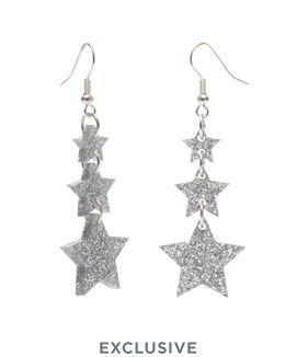 Shooting Star Earrings - Glitter Silver £40 (sale £20) - Christmas 2016