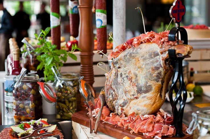 A beautiful eatable decoration of ham at our Sunday Market Brunch