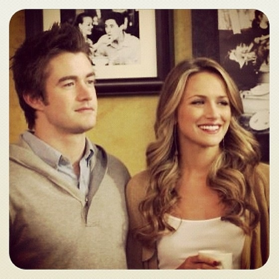 Previous Pinner: I'm convinced they ARE in love in real life. They have to be. (Clay and Quinn) (Robert Buckley and Shantel Vansanten) (OTH) (One Tree Hill)