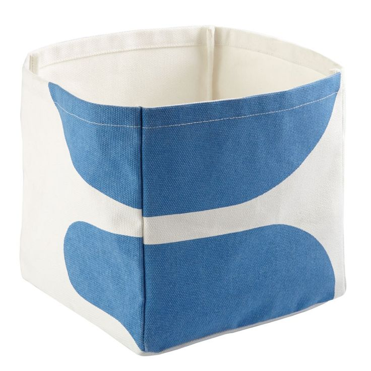 Shop Color Pop Cube Bin (Blue).  If you think there's something unique about these bins, you are correct.  The cotton canvas bin have different patterns on each side.  They're the perfect way to add a pop of bold color to any room.