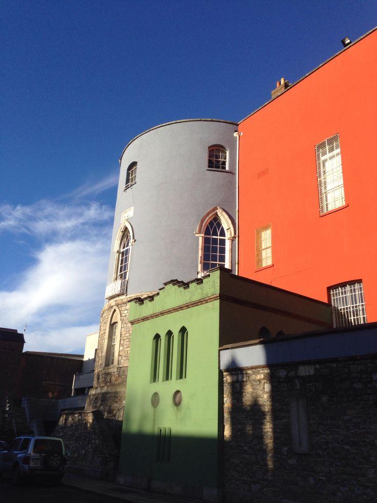 Dublin Castle, December morning sunlight