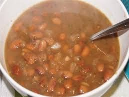 PINTO BEANS  Qdoba Mexican Grill Copycat Recipe   1 pound pinto beans (soaked overnight then simmered until tender)  4 cups cold water ...