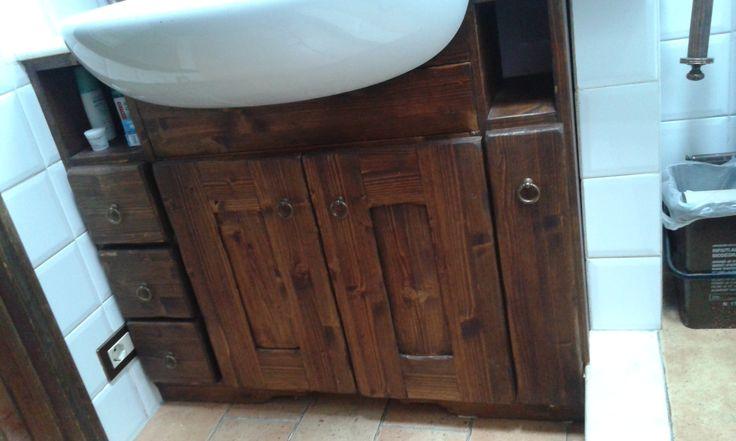 mobiletto lavandino, rustico