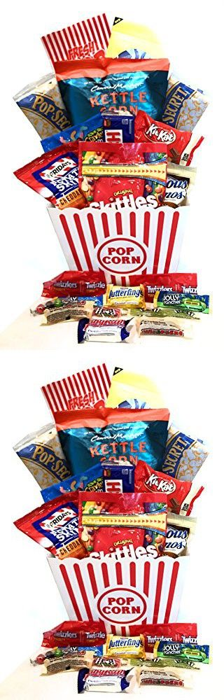 Movie Gift - Snack Gift - Popcorn Gift - Miss You Gift Basket! Great Gift Basket - Birthday Gift - Movie Lover Gift! (Classics, Family Size)