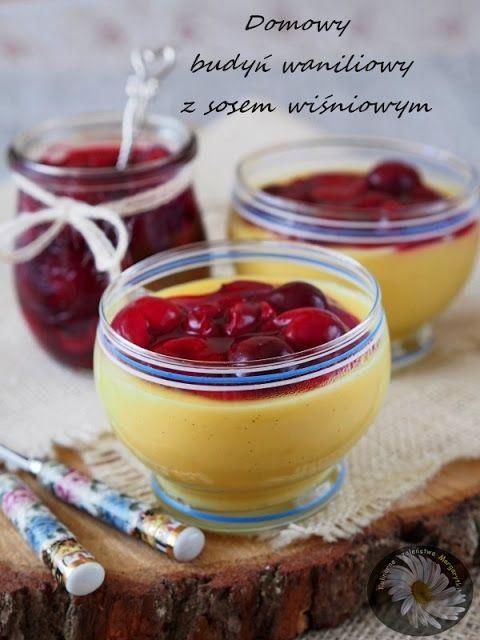 Culinary Madness Margarytki: budino alla vaniglia fatto in casa con salsa di ciliegie con cannella