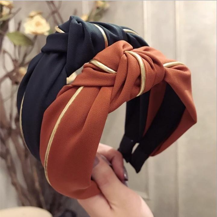 Women/'s Tie Headband Hairband Hair Hoop Accessories Wide Alice Band Headpiece