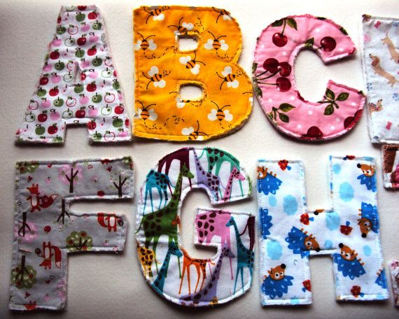 A to Z cloth letters alphabet learning set by CaptainKidaroo