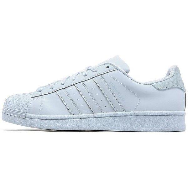 adidas Originals Superstar Adicolor ($110) ❤ liked on Polyvore featuring men's fashion, men's shoes, halo blue, mens shoes, mens leopard print shoes, mens blue shoes and mens rubber shoes