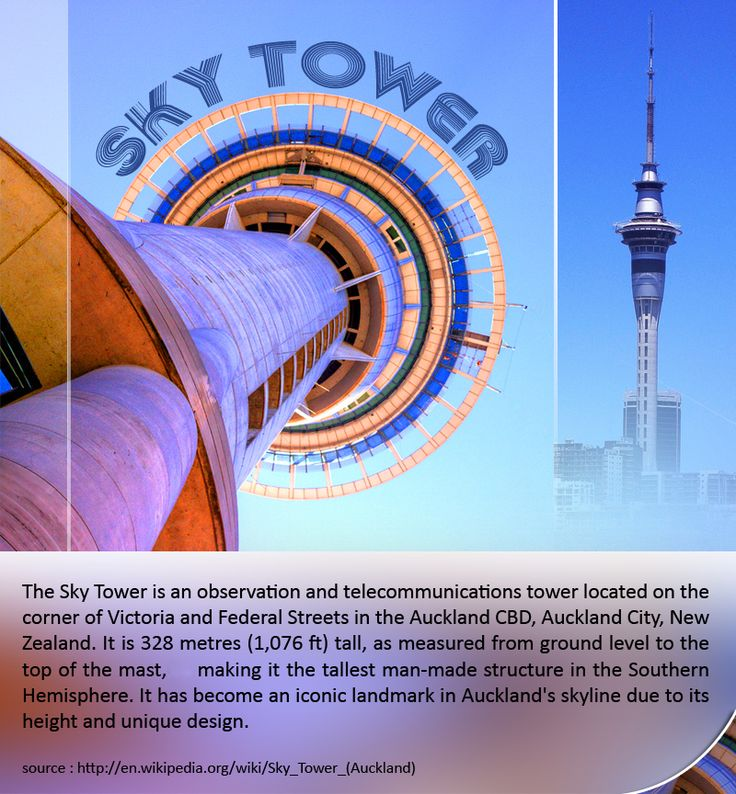 Sky Tower - AK :    The #Sky #Tower is an observation and #telecommunications tower located on the corner of #Victoria and Federal Streets in the #Auckland CBD, Auckland #City, New Zealand. It is 328 metres (1,076 ft) tall, as measured from ground level to the top of the mast.   |    source : http://en.wikipedia.org/wiki/Sky_Tower_(Auckland)   |    #skytower #aucklandcity #travel #kiwitravel #flightstoauckland   |     #cheapflights to #auckland : http://www.kiwitravel.co.uk/flights/auckland