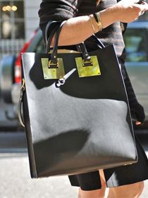 Exotic Leather Tote with Strap from en.vi-shop.kr // $231.40