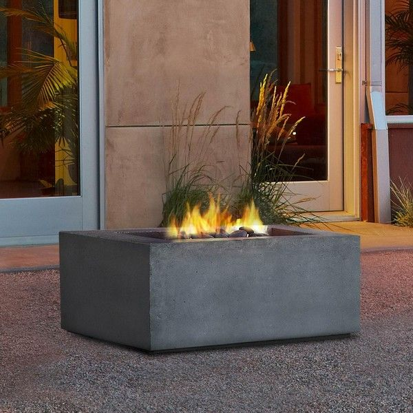 Baltic 36-Inch Propane Gas Fire Pit Table By Real Flame - Glacier Gray ($1,015) ❤ liked on Polyvore featuring home, outdoors, outdoor propane fire table, outdoor fire bowl, outdoor fire table, outdoor propane fire pits and outside fire pit