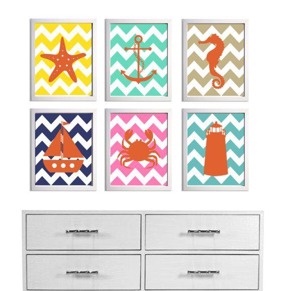 chevron nursery prints