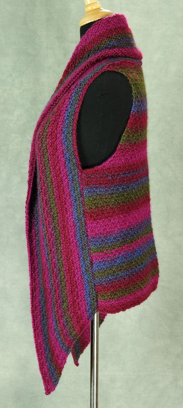 The Prudence Crowley Vest knitted, really interesting design & construction