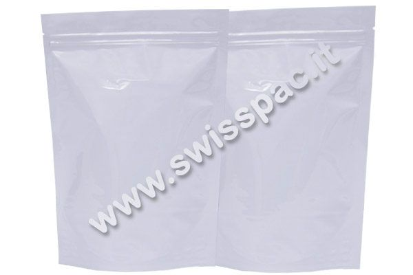Bianco lucido/ Bianco lucido   #BustePerSpezie  http://www.swisspac.it/buste-per-spezie/