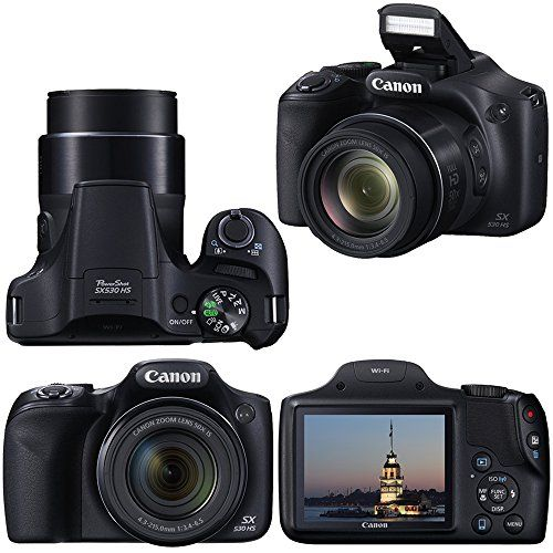 Canon Powershot SX530 HS 16.0 MP Digital Camera with 50x Zoom, Wi-Fi & 1080p Full HD Video + NB-6L Battery & AC/DC Charger + 10pc Bundle 32GB Deluxe Accessory Kit w/ HeroFiber® Gentle Cleaning Cloth  http://www.discountbazaaronline.com/2016/03/10/canon-powershot-sx530-hs-16-0-mp-digital-camera-with-50x-zoom-wi-fi-1080p-full-hd-video-nb-6l-battery-acdc-charger-10pc-bundle-32gb-deluxe-accessory-kit-w-herofiber-gentle-cle/