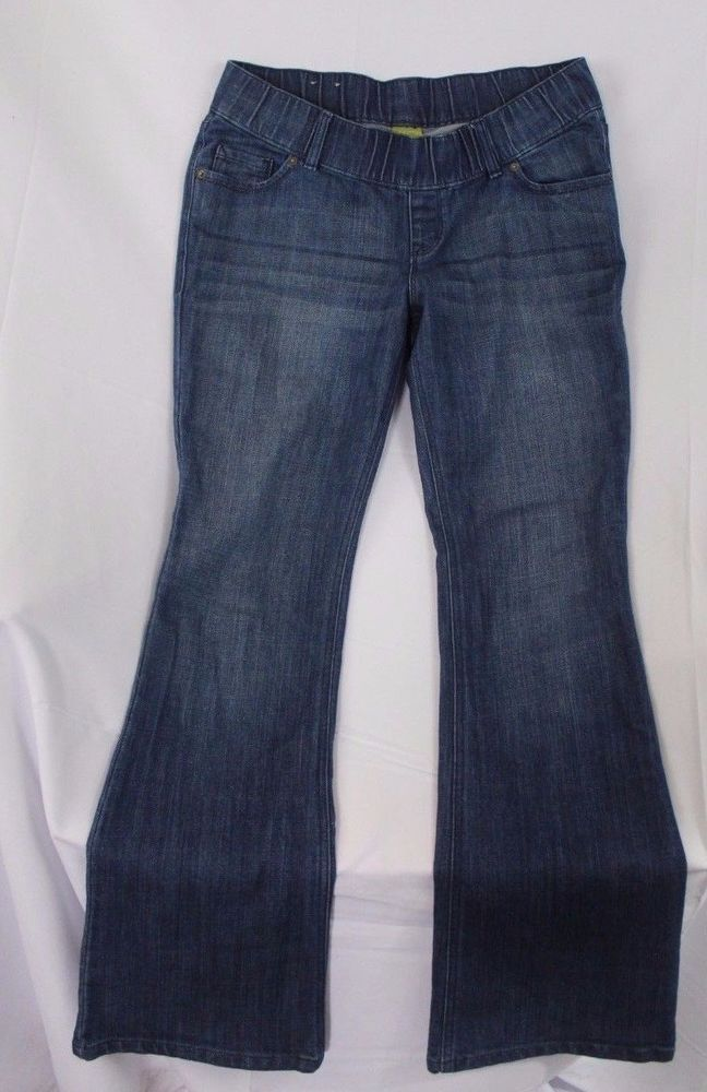 Women's Old Navy Maternity Jeans Size 8 Boot Cut Denim Pants Stretch Full Panel #OldNavy #Jeans