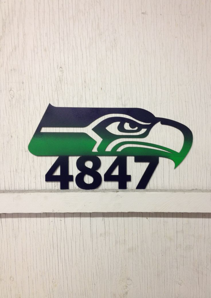 Seahawks House Number Signs And House Numbers On Pinterest