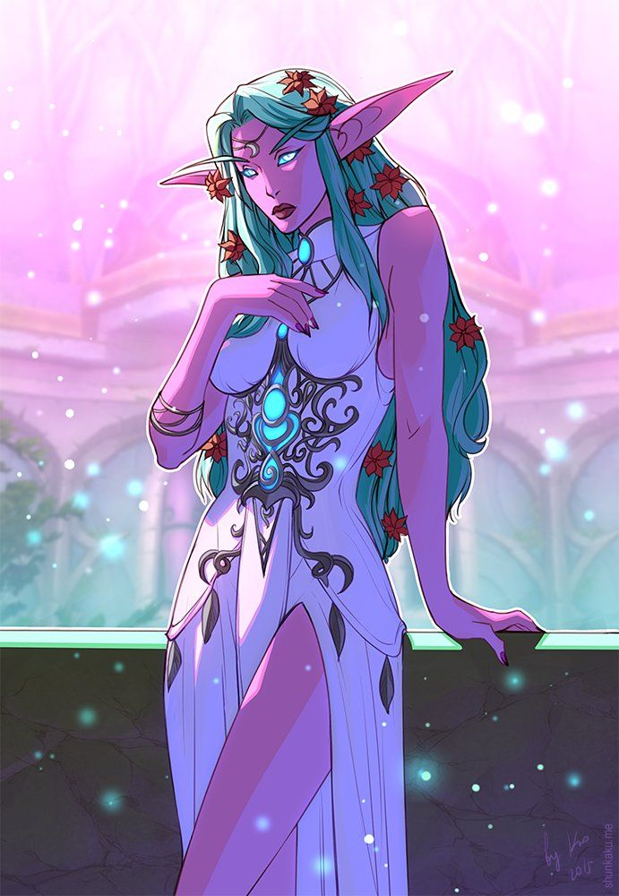 WoW: Tyrande, Nadezhda Korzun on ArtStation at https://www.artstation.com/artwork/wow-tyrande