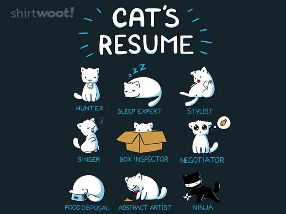 Cat's Resume Tote: Cat S Resume, Animals, Stuff, Funny, Crazy Cat, Cat Resume, Kitty, Cats Resume, Cat Lady