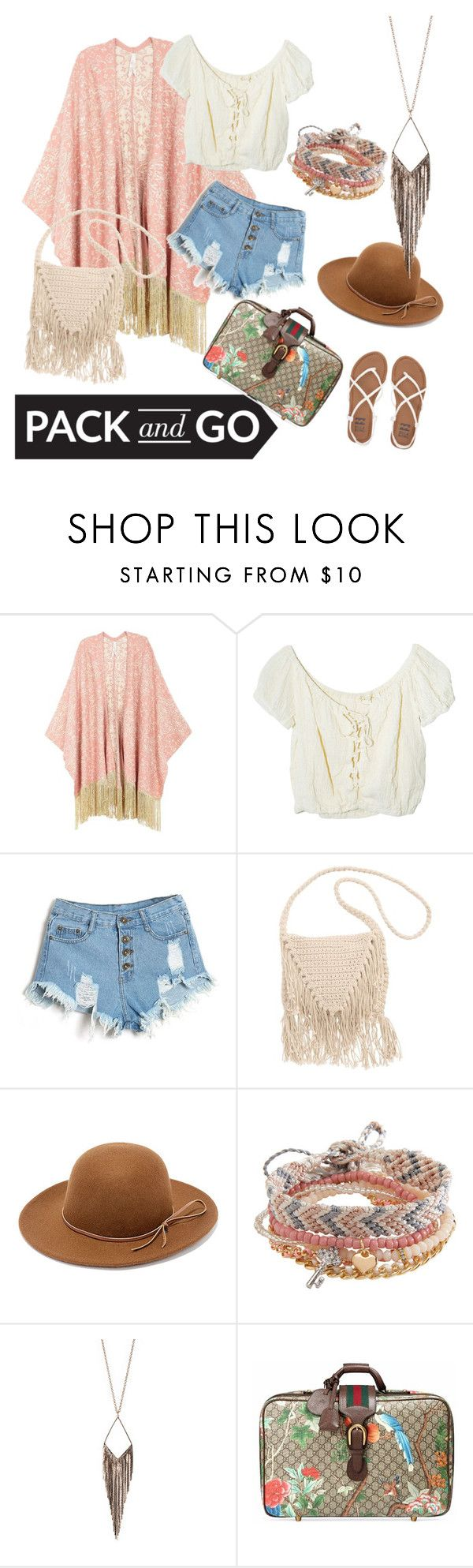 """Untitled #116"" by dolce-a ❤ liked on Polyvore featuring Melissa McCarthy Seven7, Jens Pirate Booty, Billabong, RHYTHM, Aéropostale, Jules Smith, Gucci and plus size clothing"