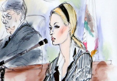 This is a courtroom sketch of celebrity Paris Hilton, which is an example of one of the information graphics. For more information on courtroom sketches: http://justinmuir.hubpages.com/hub/Why-Do-Courts-Use-Courtroom-Sketch-Artists
