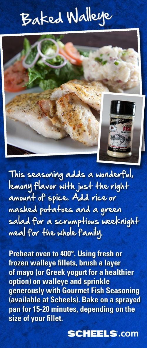 Baked walleye fillets for Simple yet delicious dinner recipes