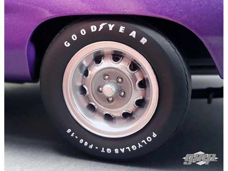 1970 Plymouth Road Runner Rally Wheels and Tires Set of 4 Pack 1/18 by GMP - Brand new 1:18 scale 1970 Plymouth Road Runner Rally Wheels and Tires Set of 4 Pack by GMP. Officially Licensed Product.-Weight: 1. Height: 5. Width: 9. Box Weight: 1. Box Width: 9. Box Height: 5. Box Depth: 5