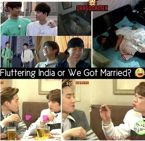 Flutterin india or we got married with minho (shinee) and suho (exo)