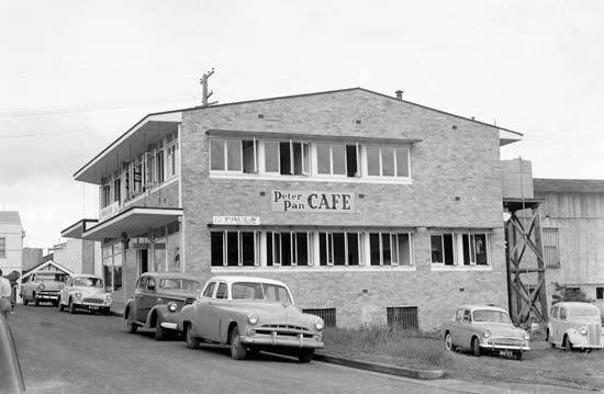 Peter Pan Cafe in Queen Street, Nambour, 1958 [picture]