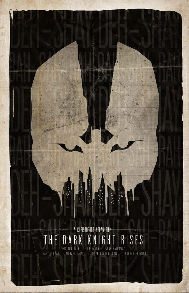 Minimalist Poster For The Dark Knight Rises.