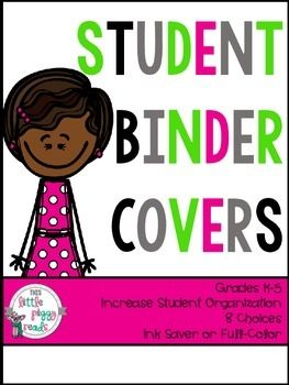 Free! Back to School Student Organization Binder Covers