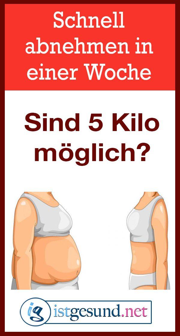 In einer Woche 5 kg abnehmen