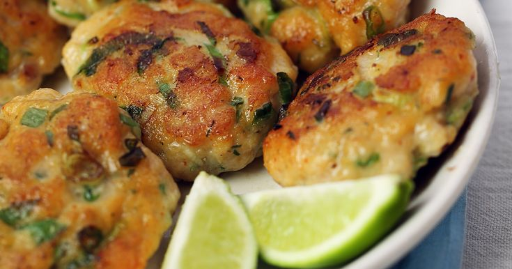 Fish cakes are a popular appetizer and snack in Thailand. In this recipe, delicately spiced fish cakes are served with a sweet chili-lime dipping sauce.