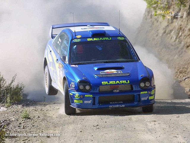 Richard Burns in his Subaru 2001 (Cyprus)