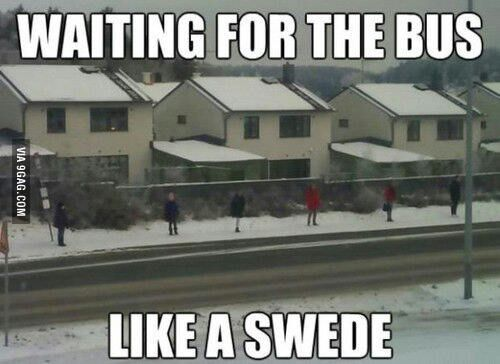 Swedish people. We are antisocial.