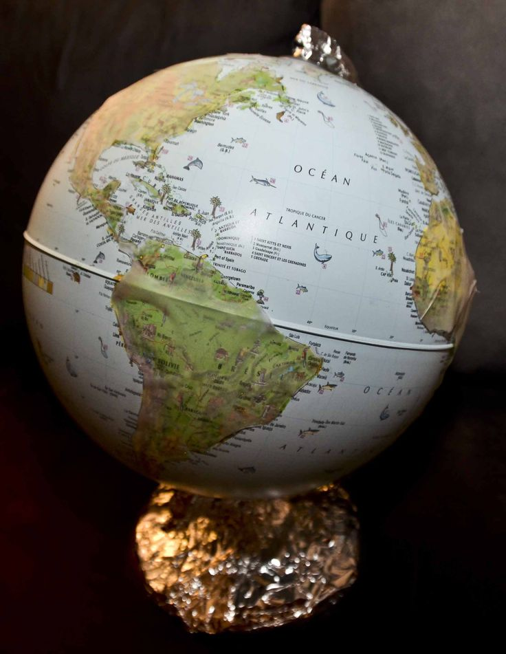 décalquer globe montessori
