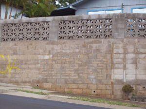 Decorative Cinder Block Walls