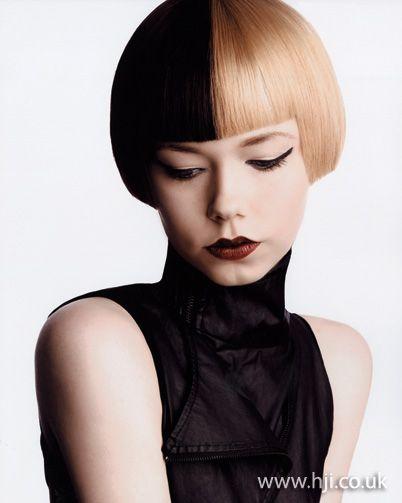 half hairstyles : 2012 half and half hair dye womens bob hairstyle hairstyle A half ...